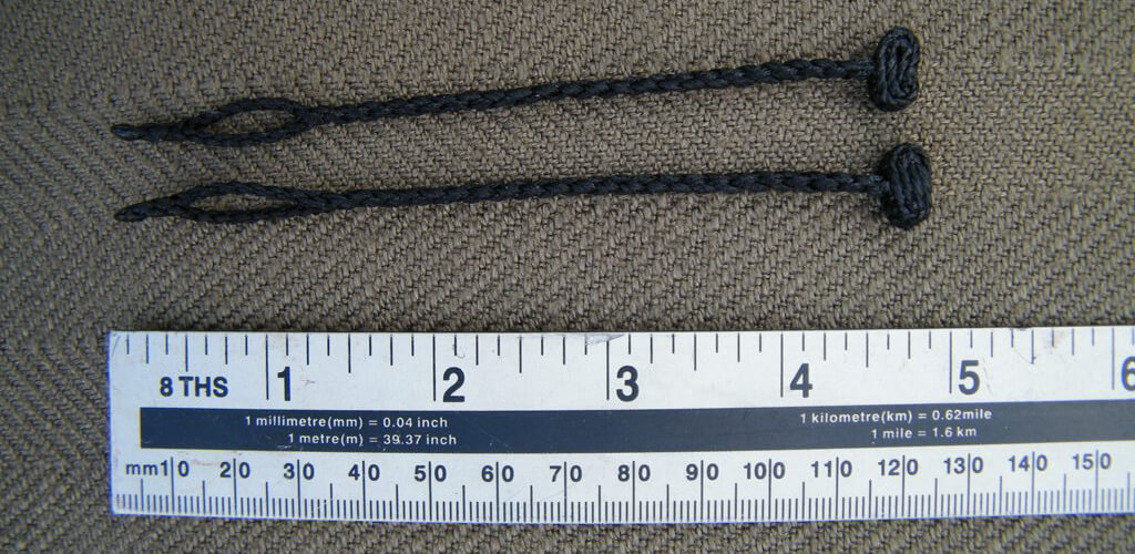 falconry anklets with ruler